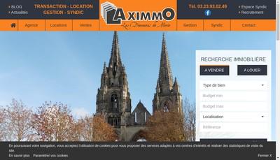 Site internet de Aximmo
