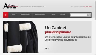 Site internet de Axiome Avocats