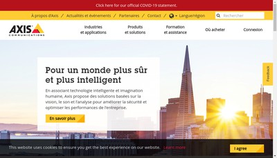 Site internet de Axis