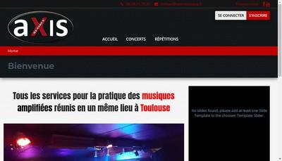 Site internet de Axis Musique
