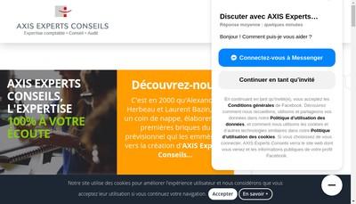 Site internet de Axis Experts Conseils