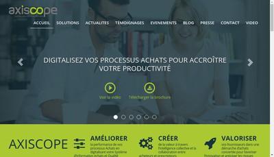 Site internet de Axiscope