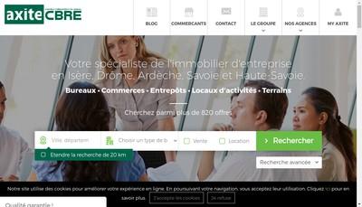 Site internet de Axite Cbre