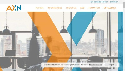 Site internet de Axn Informatique
