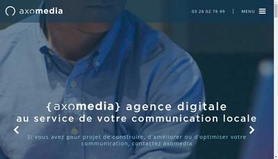Site internet de Axomedia