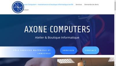 Site internet de Axone Computers