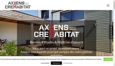 Site internet de Axxens SARL