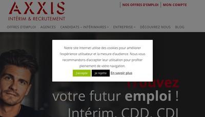Site internet de Axxis Ressources