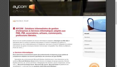 Site internet de Aycom