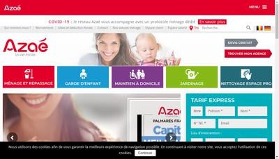 Site internet de Azae Bourgoin Jallieu