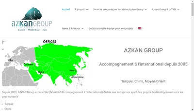 Site internet de Azkan Group