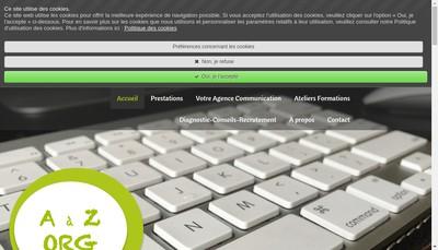 Site internet de AAZ Organisation