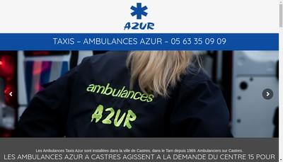 Site internet de Ambulances Azur - Colixo-Pack Colis Tarn