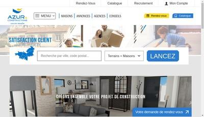 Site internet de Azur et Construction