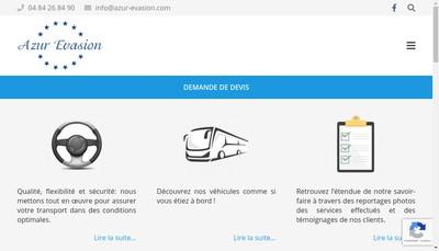 Site internet de Azur Evasion