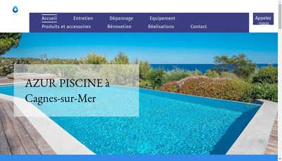Site internet de Azur Piscine