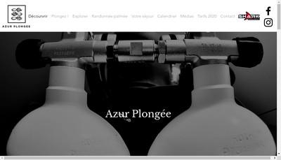 Site internet de Azur Plongee