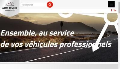 Site internet de Azur Trucks Carros