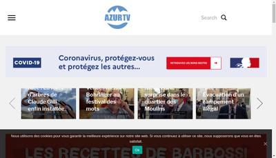 Site internet de Azur Tv