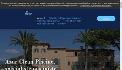 Site internet de Azur Clean Piscine