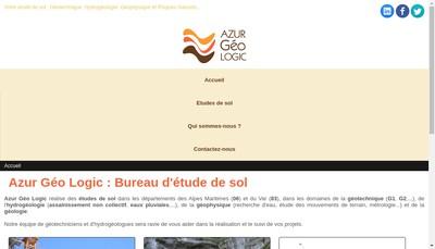 Site internet de Azur Geo Logic