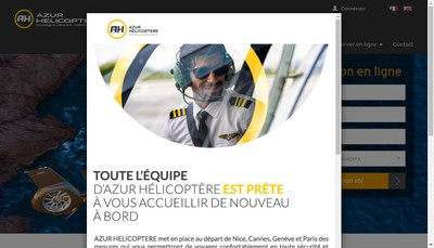 Site internet de Azur Helicoptere