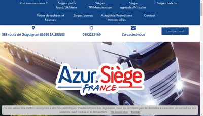 Site internet de Azur Siege France