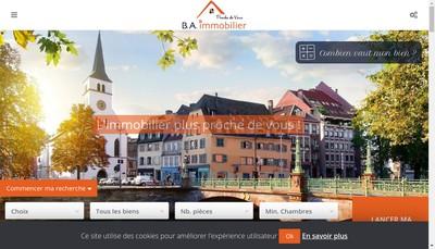 Site internet de BA Immobilier