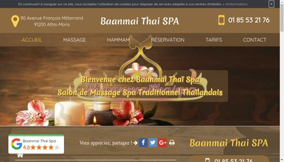 Site internet de Baanmai Thai Spa