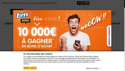 Site internet de Babou