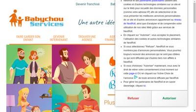 Site internet de Babychou Services Montrouge