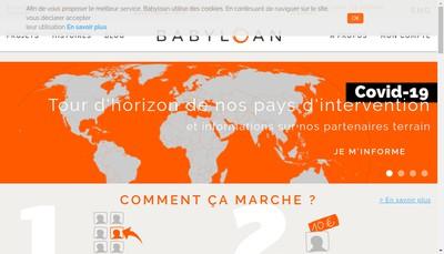 Site internet de Babyloan