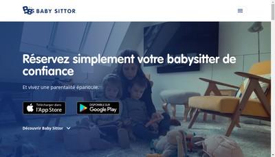 Site internet de Baby Sittor