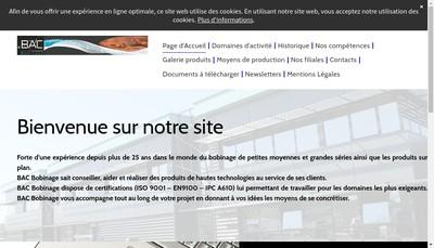 Site internet de Bac Bobinage