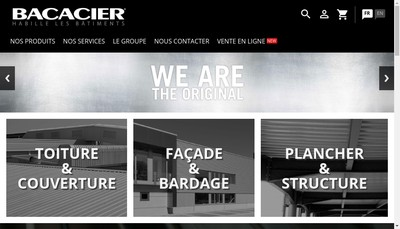 Site internet de Bacacier Meridional