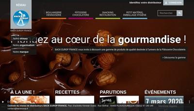 Site internet de Back Europ France