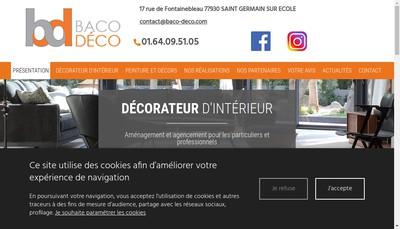 Site internet de SARL Baco Deco