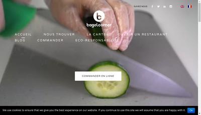 Site internet de Bagel Corner Lyon