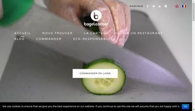 Site internet de Bagel Corner