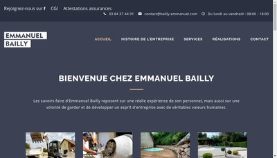 Site internet de EURL Emmanuel Bailly