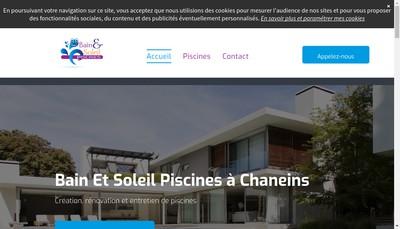 Site internet de Bain et Soleil Piscines
