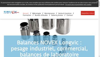 Site internet de Balances Novex