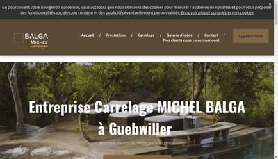 Site internet de Entreprise Carrelage Michel Balga