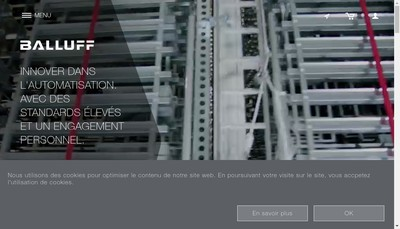 Site internet de Balluff SAS