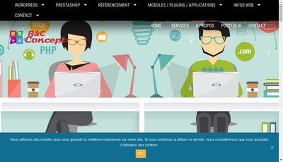 Site internet de B&C Concept