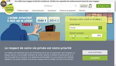 Site internet de Banque Casino Bc