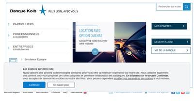 Site internet de Banque Kolb