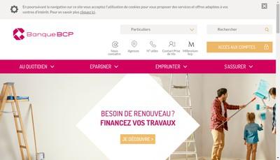 Site internet de Banque Bcp