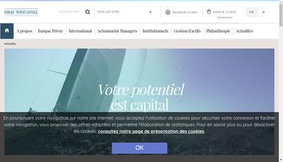 Site internet de Transat