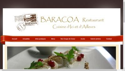 Site internet de Baracoa Restaurant
